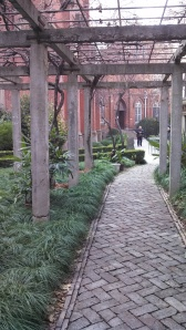 The side courtyard gardens